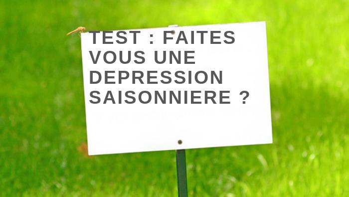 Test : Faites-vous une dépression saisonnière?